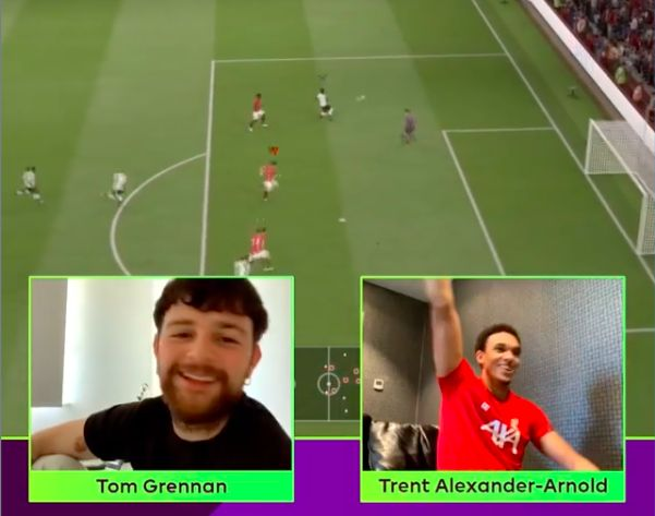 (Video) Trent scores worldy chip with Mane as he storms FIFA Invitational first round