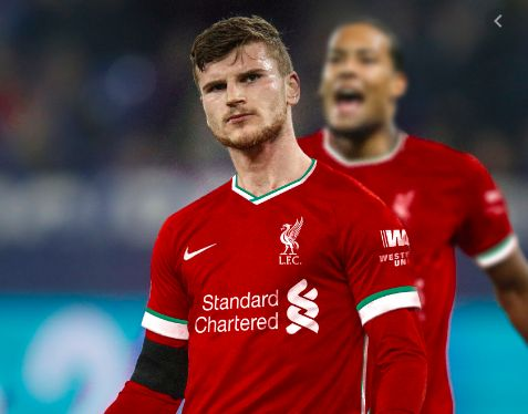 Video) Timo Werner scoring goals for Liverpool edit goes viral