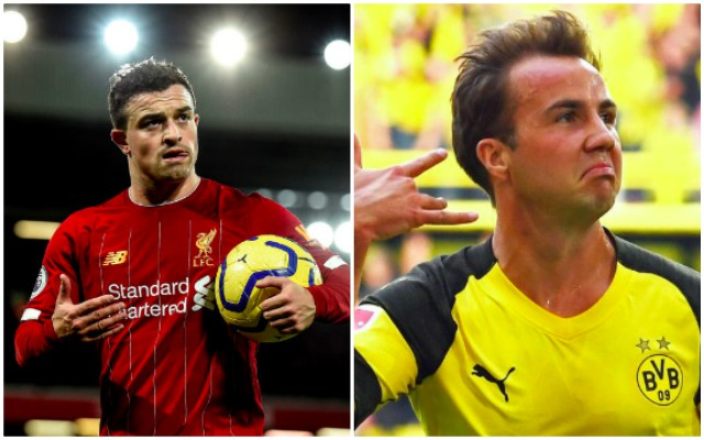 Mario Gotze a candidate to replace Xherdan Shaqiri in summer