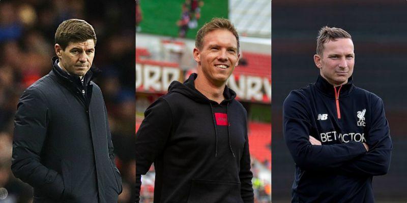 Gerrard, Lijnders & Nagelsmann named on shortlist to replace Klopp