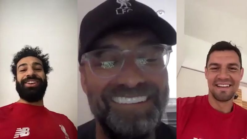 (Video) Klopp checks in with Salah to make sure Lovren is keeping in touch in new Zoom snippet