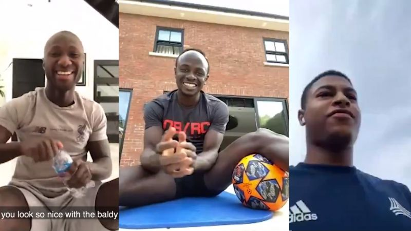 (Video) LFC squad singing to Sadio Mane in Zoom call will make your day