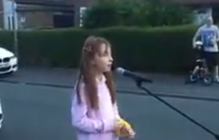 (Video) Young girl moves Liverpool street with emotional rendition of YNWA