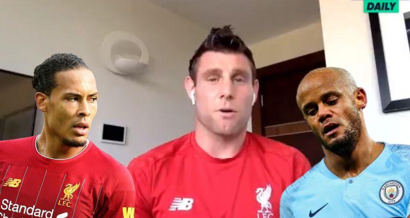(Video) Milner says van Dijk is more of a 'Rolls-Royce' than Kompany