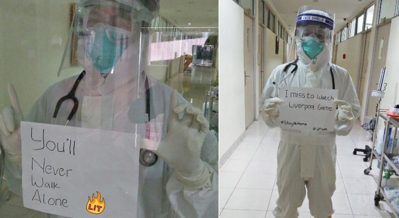 (Photos) Indonesian medical worker & LFC fan shares poignant message amid pandemic