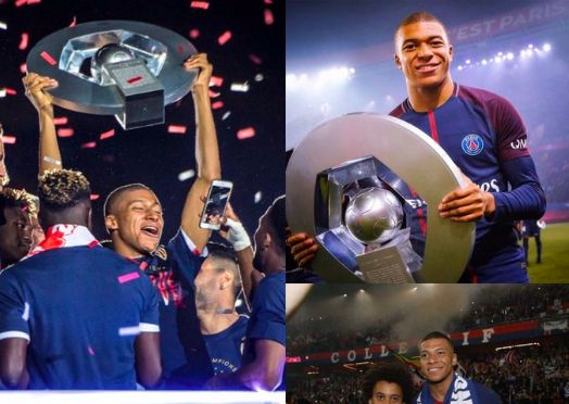 Mbappe celebrates PSG's title with 'Champions at Home' tweet