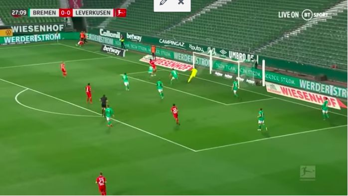 (Video) LFC target Kai Havertz destroys Werder Bremen in Bundesliga return