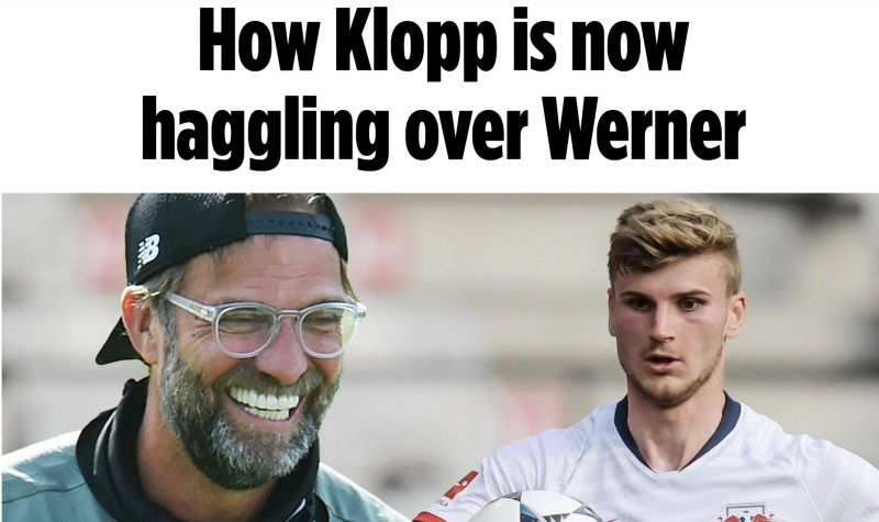 LFC want Timo Werner, but won't pay £48M & plan to haggle price down – Bild