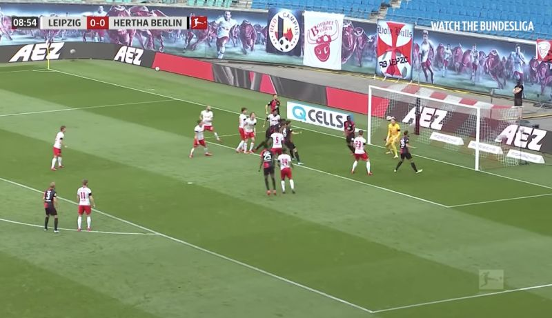 (Video) Rb Leipzig 2-2 Hertha Berlin: Grujic bags and Werner toils in another top Bundesliga clash