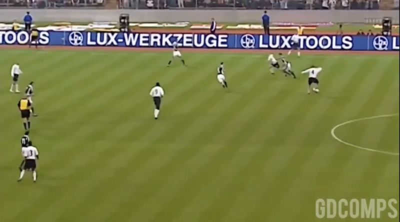 (Video) When Gerrard completely destroyed the Germans, aged 21