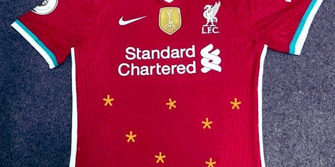 (Images) LFC fans Photoshop asterisks onto new kit to poke fun at rivals