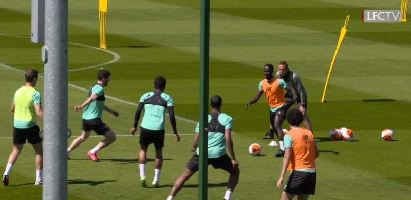 "(Video) ""Naby lad!"" – Reds' rapid rondos at Melwood as contact training resumes"