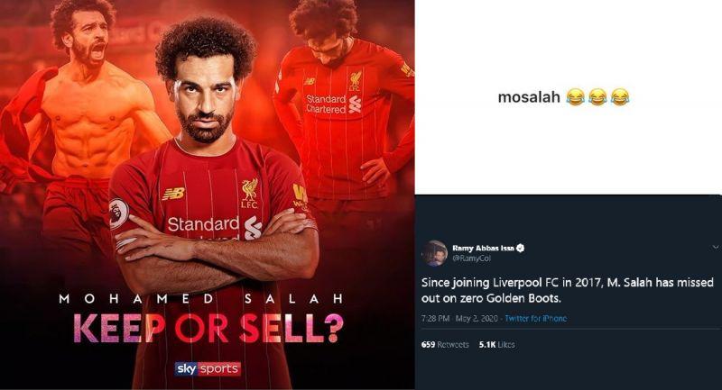 Salah laughs off bizarre suggestion LFC should sell him & embarrasses Sky Sports