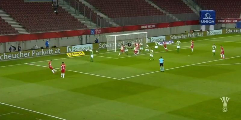 (Video) Reported LFC target Szoboszlai scores brilliant free-kick from tight angle