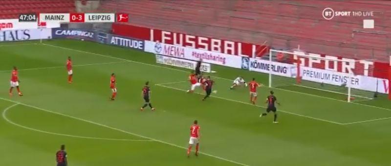 (Video) LFC target Werner bags brace after brilliant solo move as Leipzig flatten Mainz