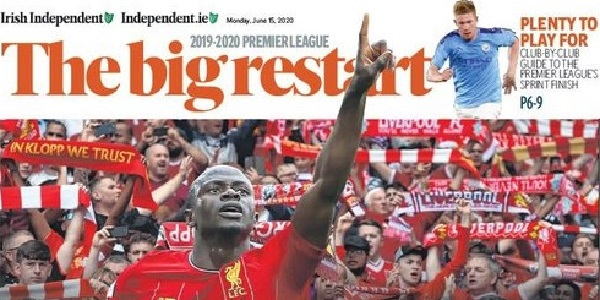 (Image) 'History delayed, not history denied': Irish Independent smashes it with front page splash about LFC
