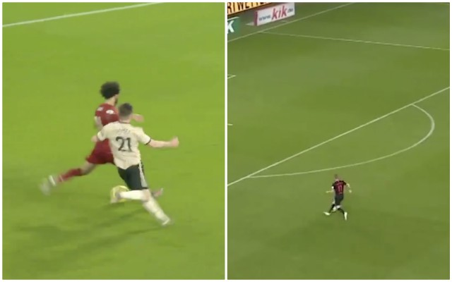 (Video) Timo Werner mimicked Salah's iconic goal v Manchester United for Rb Leipzig last night