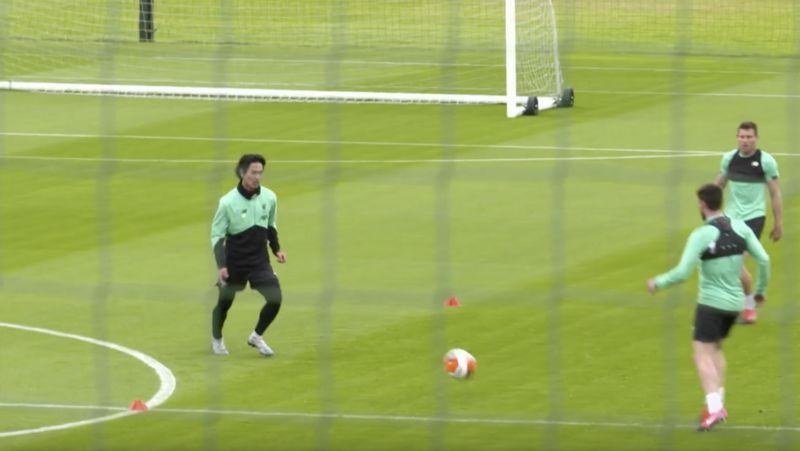 'Yes Taki!' Milner loves Minamino's slick rondo skills in training