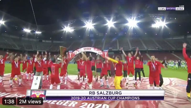(Video) What Henderson's PL trophy lift might look like – after Rb Salzburg celebrate in socially distanced style