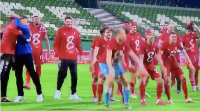 (Video) How Bayern celebrated title in an empty away stadium – and still had a blast – suggesting LFC's PL win is still going to be a lot of fun…