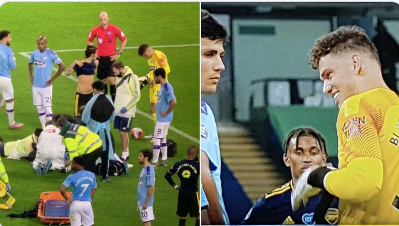 (Video) Guardiola and Ederson's callous behaviour after Eric Garcia incident is not something that would happen at Liverpool