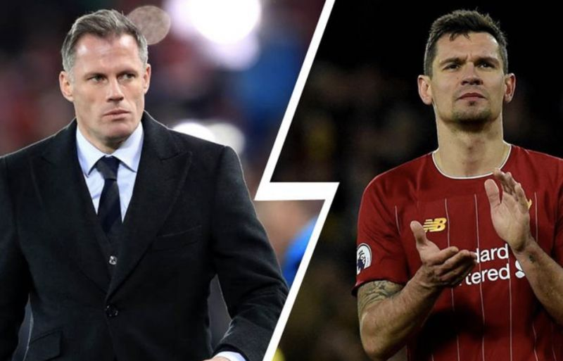 Lovren likes a tweet from Mikael Silvestre slating Jamie Carragher