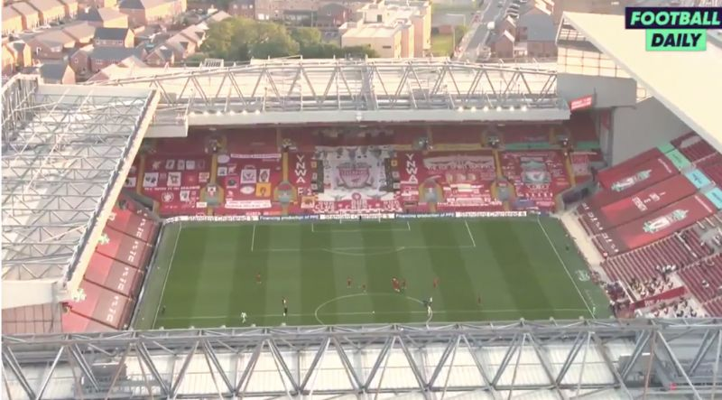 (Video) Eery YNWA in empty Anfield still manages to hit the spot…