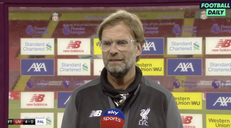 (Video) Klopp's brilliant response to Guardiola's mind-games – 'What?! He said that?'