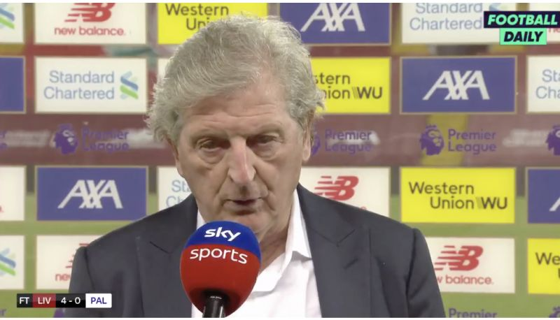 (Video) Roy Hodgson gives a humble interview about brilliance of Liverpool's intensity