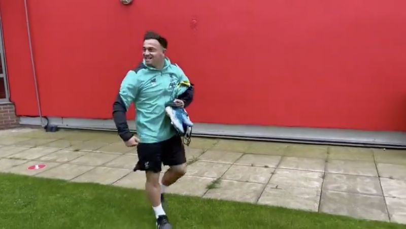 (Video) Shaqiri emerges from the Melwood shadows and he's buzzing about being a PL champion