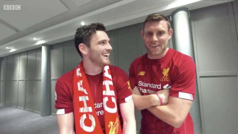 (Video) Robbo & Milner get the giggles at Guardiola's Guard of Honour comments