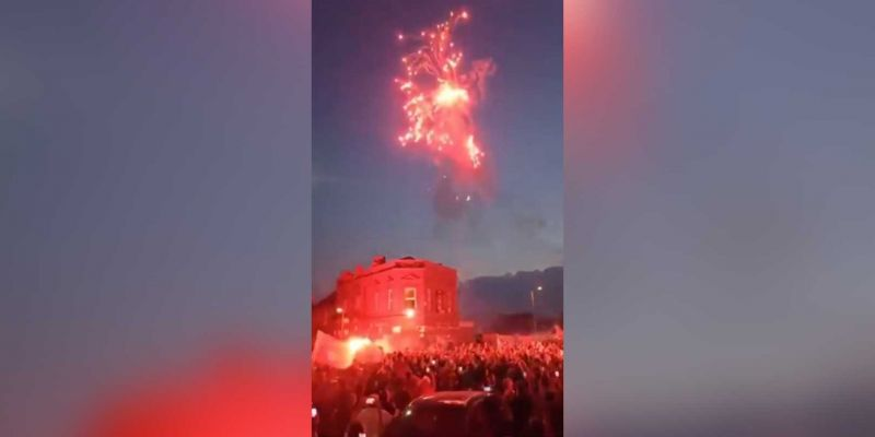 (Video) LFC fans go ballistic after winning PL title, setting off fireworks & singing YNWA in the streets