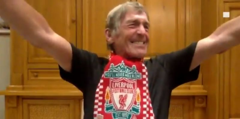 (Video) Visibly emotional Kenny Dalglish celebrates LFC's Premier League title win live on TV