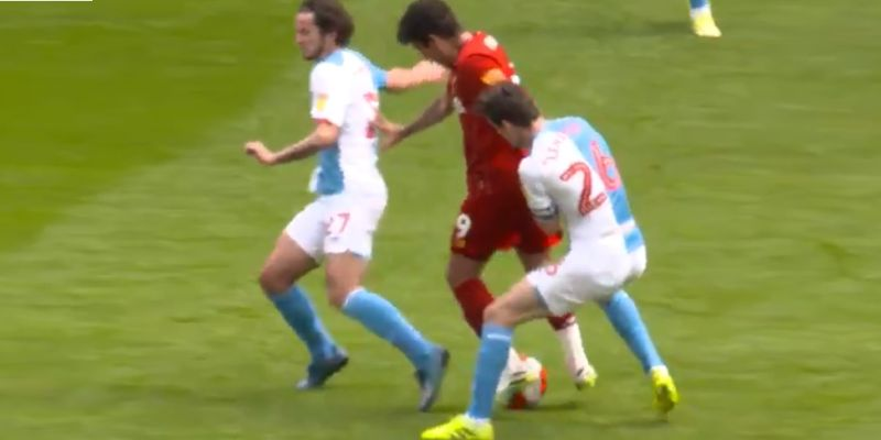 (Video) Firmino sends defender for a hotdog in behind-closed-doors game at Anfield