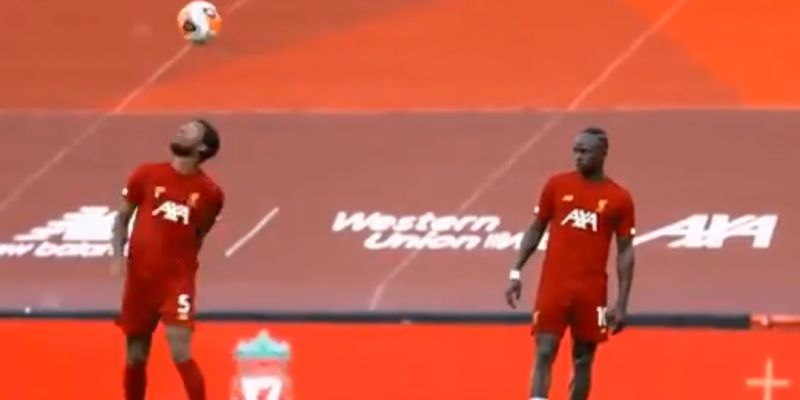 (Video) Wijnaldum teaching Mané a new skill move in LFC training is very endearing to watch