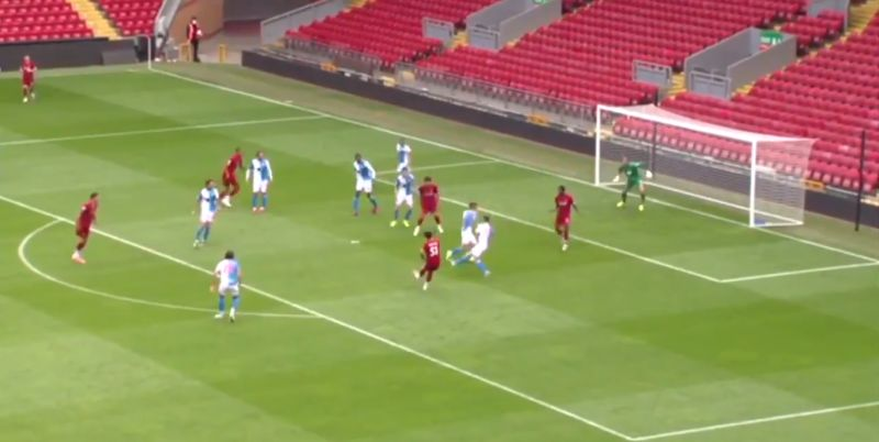 (Video) Hoever curls worldy into top-corner after some fine footwork by Matip, leaving Blackburn players stunned
