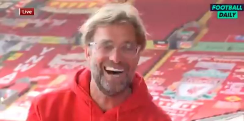 (Video) Klopp laughs when told about Man City giving LFC a guard of honour