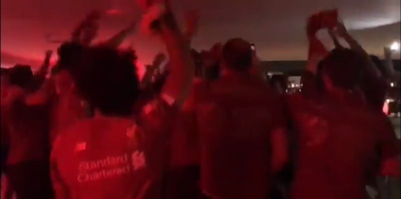 (Video) LFC squad go mad to 'Freed From Desire' in unseen clip from Premier League title party