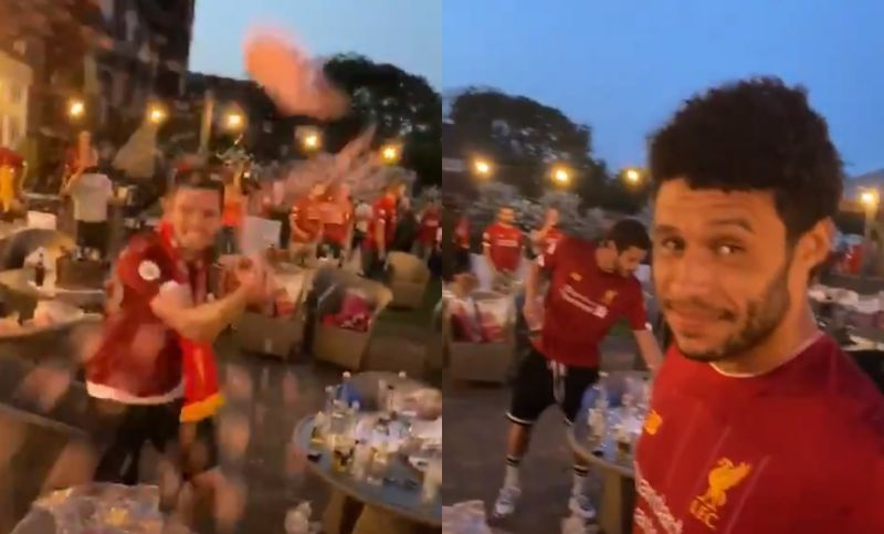 (Video) Ox & Robbo lose their minds in new unseen footage from LFC's Premier League title party