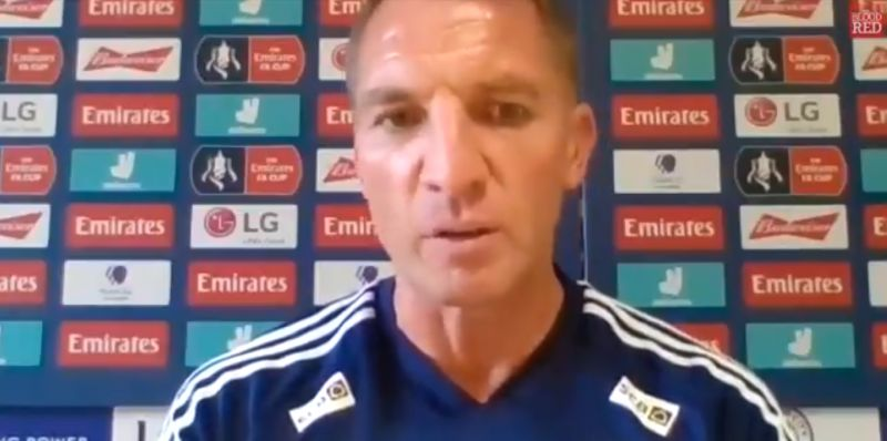 """(Video) """"Delighted for Jurgen"""" – Rodgers pays tribute to LFC after Premier League title win"""