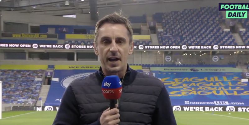 (Video) Neville lauds Liverpool's recruitment in begrudging congratulatory speech