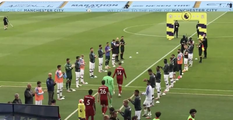 (Video) Man City players walk off halfway through Guard of Honour with half the LFC XI still not on field