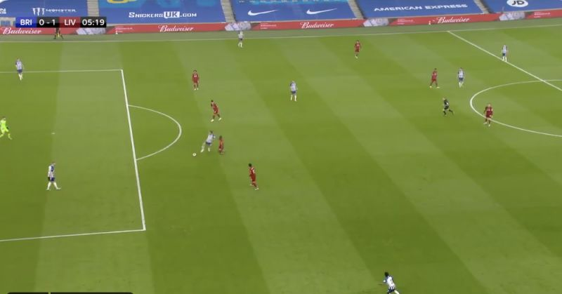 (Video) Naby Keita's incredible press leads to Mo Salah's lovely goal