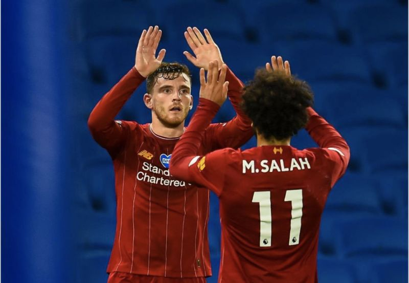 Andy Robertson takes the Mickey out of Mo Salah with hilarious tweet after Salah's post-match comments