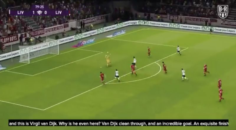 (Video) Van Dijk scores worldy chip in simulation of Liverpool v Liverpool's non-title winners