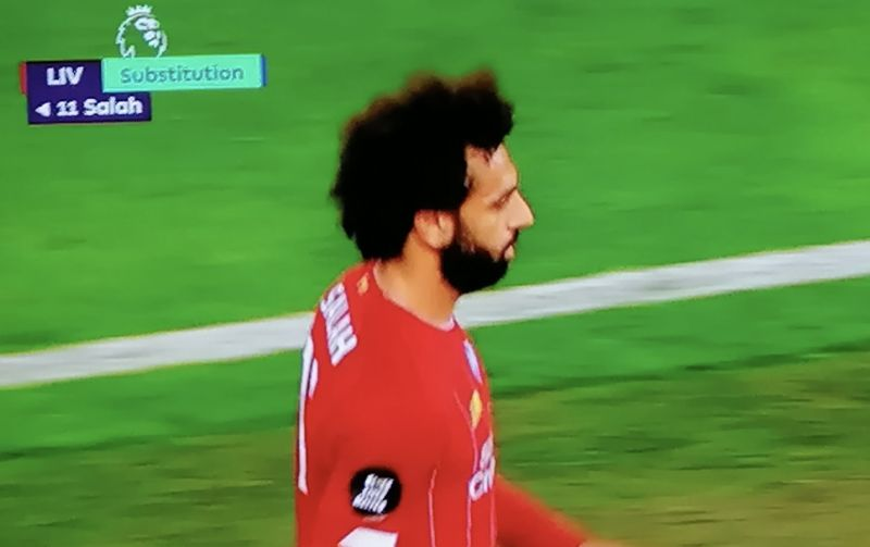 (Images) Mo Salah fuming at being subbed off without scoring v Chelsea