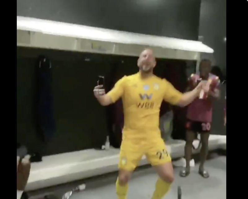 (Video) Hilarious Pepe Reina dressing room dance emerges after Aston Villa avoid relegation