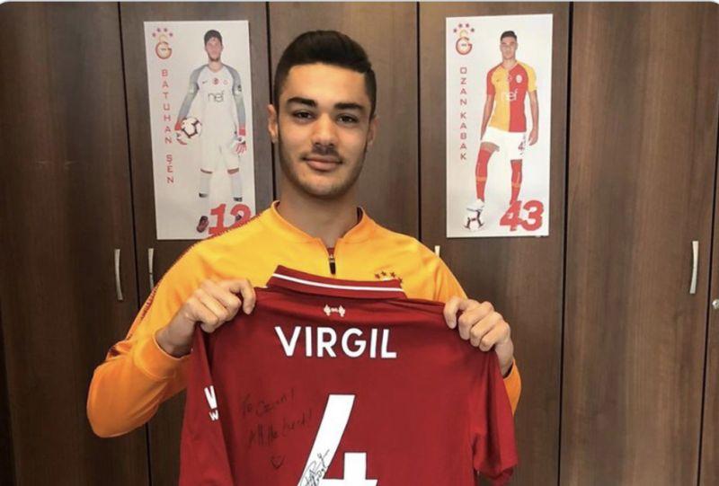 (Image) Confirmed Liverpool target poses with Van Dijk's no.4 shirt as link intensifies