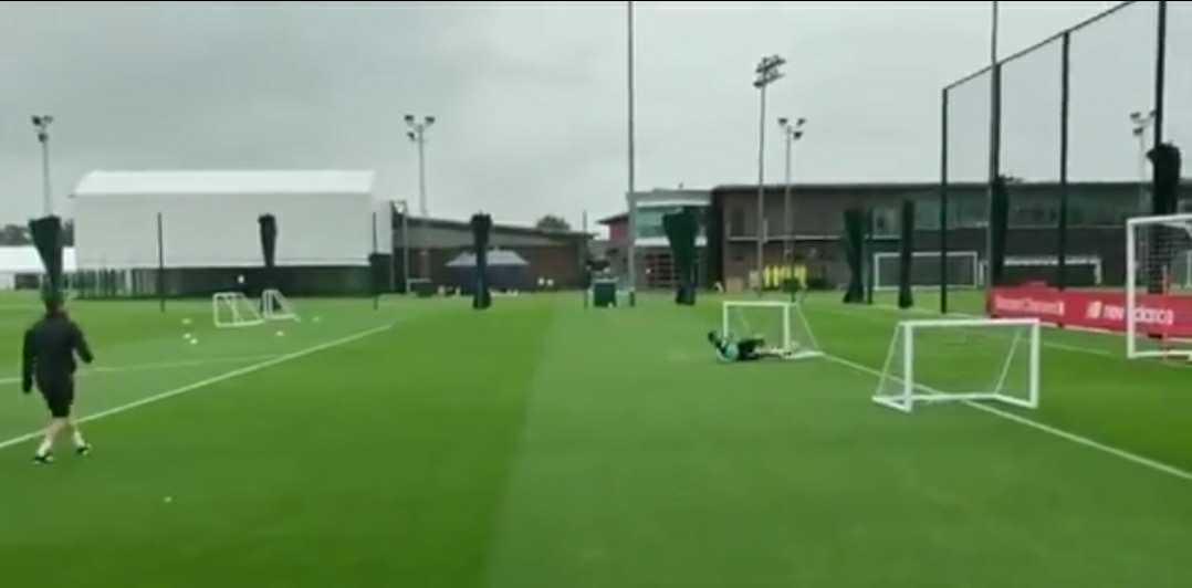 (Video) Milner almost recreates Bournemouth goal-line clearance in rainy Melwood training session