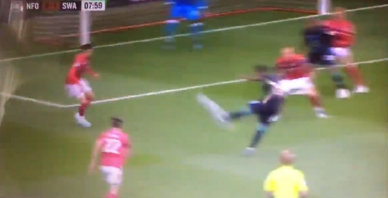 (Video) Brewster slams goal into top corner with outrageous finish on weaker foot